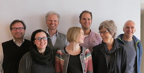 Styret i Møre og Romsdal MDG: Jon Peder Vestad (Molde), Margrete Winter-Hjelm (Molde), John John Bruseth (Ålesund/Oslo), Siri Tangen Standal (Volda), Lars Gaupset (MDG sentralt, møteleiar), Kari Godø Sæther (Giske), Helge Standal (Volda). Thorleif George Kristiansen (Hareid) og Frida Gillberg (Sæbø) er ikkje med på bildet.